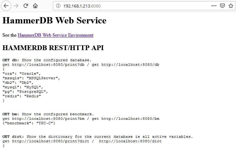 Using HammerDB as a Web Service – HammerDB Blog